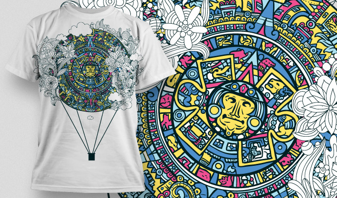aztec vector t-shirt design