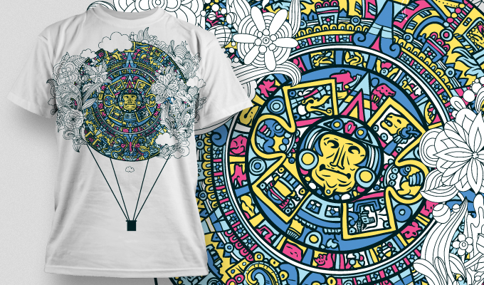 aztec vector t-shirt design